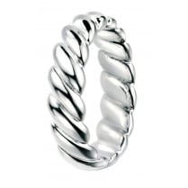 Wide Sterling Silver Twisted Band