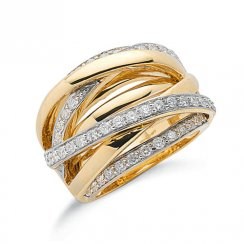 Yellow Gold Diamond Ring 1ct Diamonds