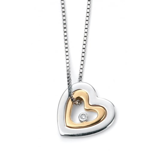 D for diamond Diamond Mother & Daughter Pendant