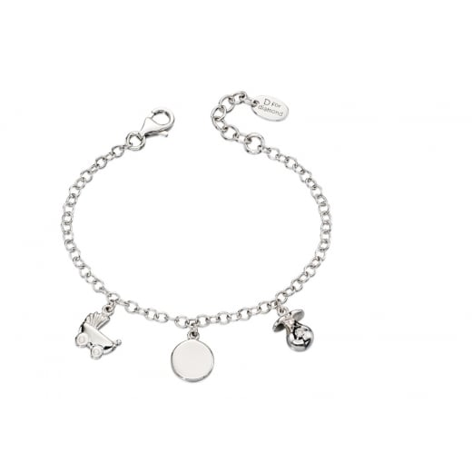 D for diamond Girls Charm Bracelet