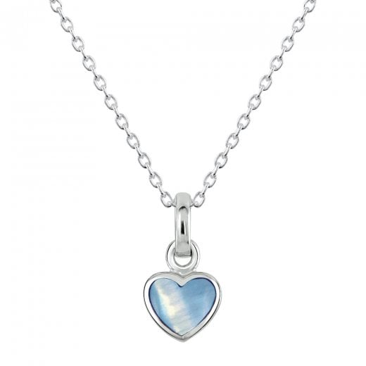 Dew Dinky Blue Mother of Pearl Heart Pendant
