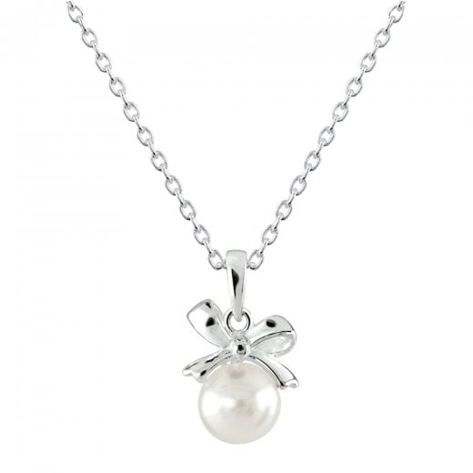 Dew Dinky Small Bow With Freshwater Pearl Pendant