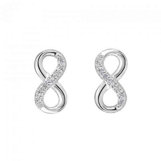 Dew Infinity CZ Stud Earrings