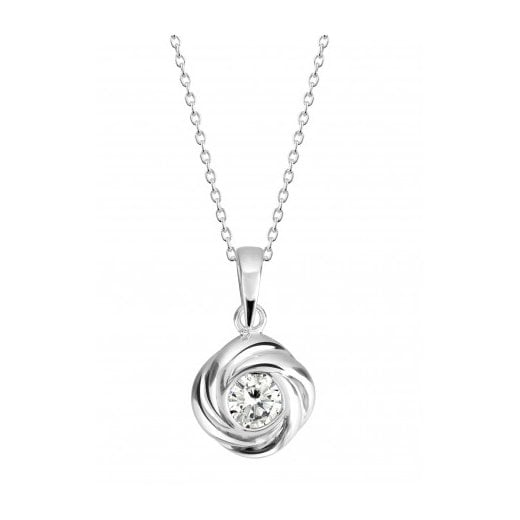 Dew Knot Pendant With CZ
