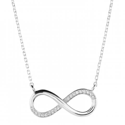 Dew Large Infinity CZ Necklace
