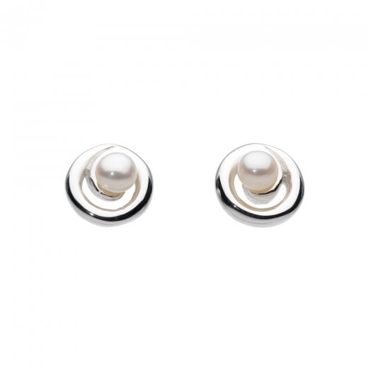 Dew Pearl Spiral Stud Earrings