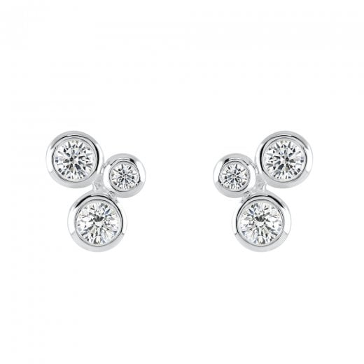 Dew Scattered Cubic Zrconia Earrings