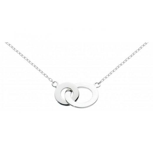Dew Sterling Silver Linking Circles Necklace 45cm