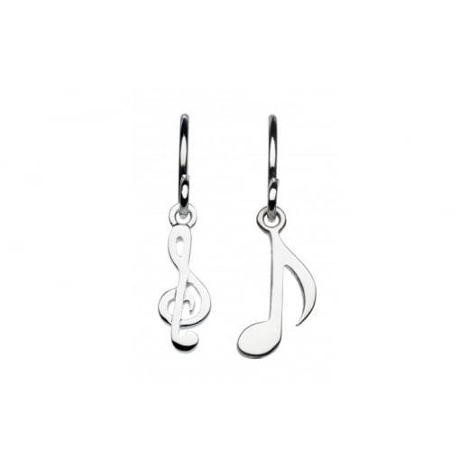 Dew Sterling Silver Musical Theme Drop Earrings