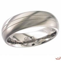 Dome profile GETi Titanium ring with two grooves.