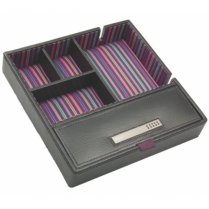 Black Leather Valet Tray For Your Daily Stuff