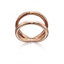 ROSE GOLD PLATED DOUBLE CIRCLE RING