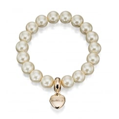 STRETCH PEARL BRACELET WITH PEARL CHARM