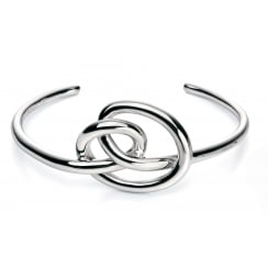 Polished Silver Chunky Knot Bangle