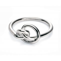 Polished Silver Knot Ring