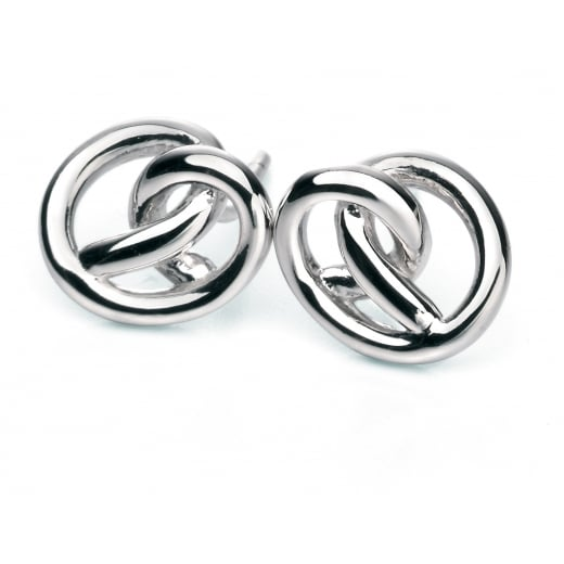 Fiorelli Silver Polished Silver Knot Stud Earrings