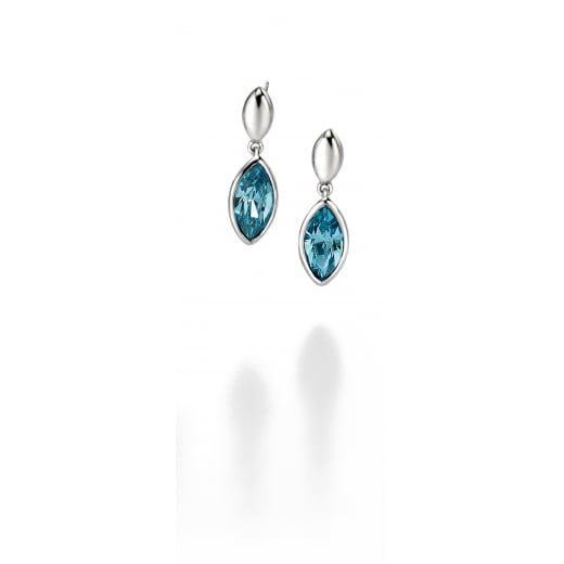 Fiorelli Silver Silver aquamarine drop earrings