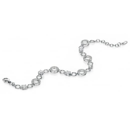 Fiorelli Silver Silver round CZ bracelet with pave circles