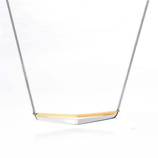 Fiorelli Silver Silver Two Tone Necklace