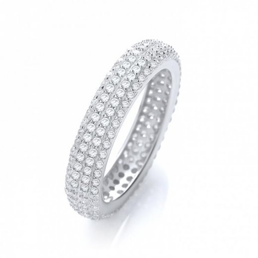 J-Jaz Micro Pave Full Eternity Ring