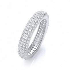 Micro Pave Full Eternity Ring