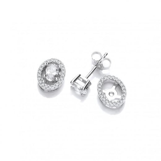 J-Jaz Two Earrings In One - CZ Stones