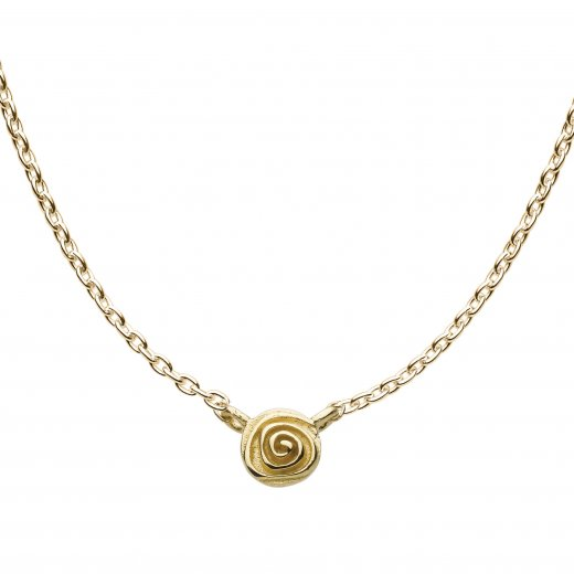 Kit Heath 18ct Gold Plated Sterling Silver Single English Rose Necklace