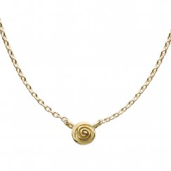 18ct Gold Plated Sterling Silver Single English Rose Necklace