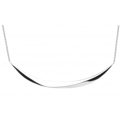 Kit Heath BEVEL CURVE BAR NECKLACE 18""