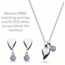 Kit Heath Desire Kiss Crush Amethyst Necklace With Free Earrings