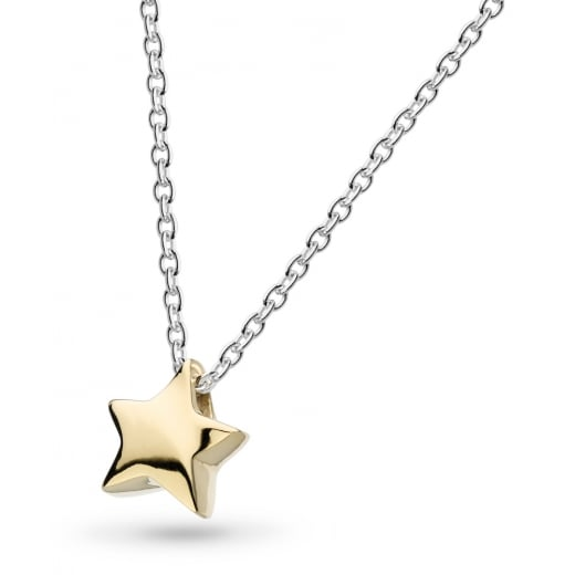 "Kit Heath MINIATURE SHINING STAR GOLD PLATE 17"" NECKLACE"