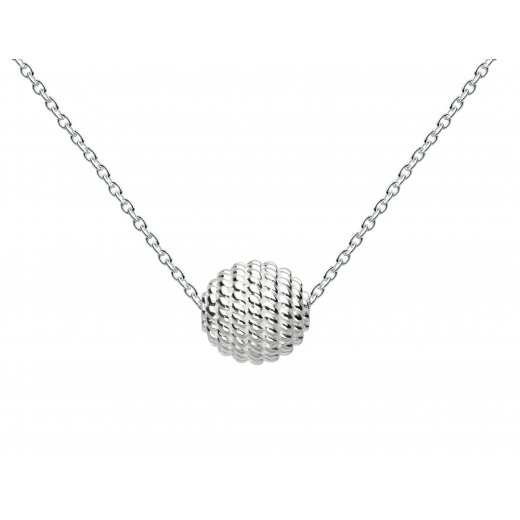 Kit Heath Ravel Ball Necklace In Streling Silver