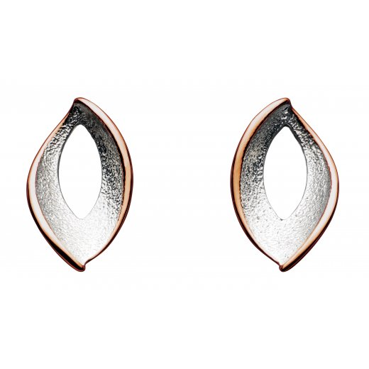 Kit Heath Rose Gold Stardust Twist Stud Earrings Sterling Silver