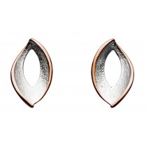 Rose Gold Stardust Twist Stud Earrings Sterling Silver