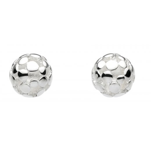Kit Heath Sterling Silver Bubble Stud Earrings