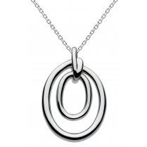 """Sterling Silver Constance Oval Knot Necklace 18"""""""