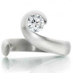 Platinum .53ct Round Brilliant Diamond E VS2